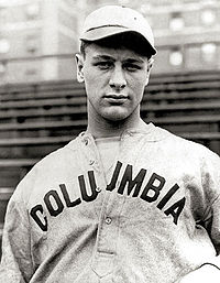 Lou Gehrig en sus años con la Universida de Columbia
