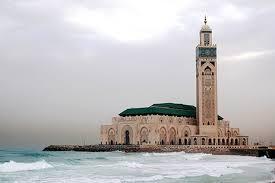 Vista general de la mezquita Hassan II