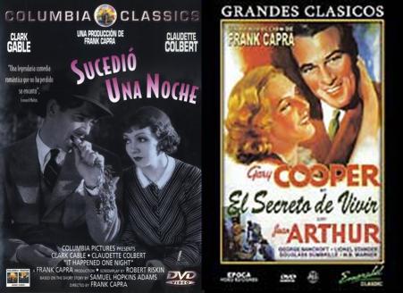 Afiches de dos de los primeros éxitos de Frank Capra en el cine sonoro