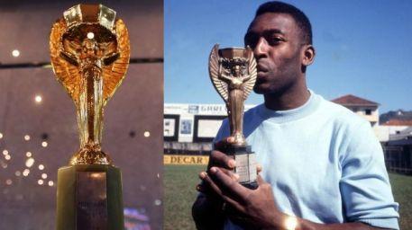 Pelé y la copa Jules Rimet