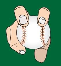 Agarre de la bola para lanzar una screwball