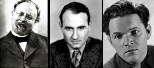 De izq a der Emil Jannings, Claude Autant-Lara y Veit Harlan