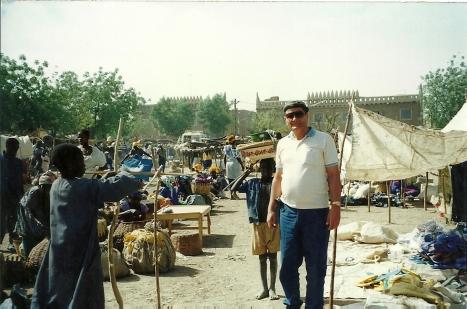 El autor en el mercado de Djenne