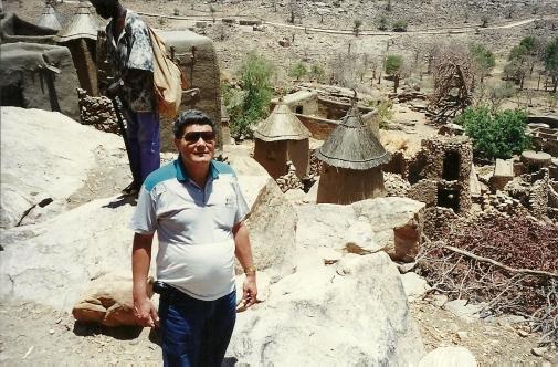 El autor en País Dogon