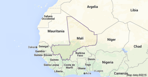 Mapa Mali