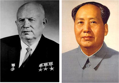 Nikita Serguéievich Jruschov y Mao Zedong