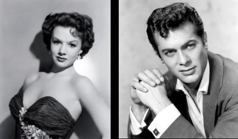 Piper Laurie y Tony Curtis, asiduos colaboradores en sus inicios en el cine