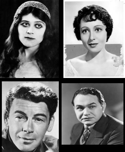 Primeros actrices y actores judíos destacados en Hollywood Theda Bara, Luise Rainer, Paul Muni, Edward G. Robinson
