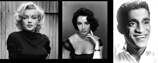 Tres convertidos al judaísmo, Marilyn Monroe, Elizabeth Taylor y Sammy Davis Jr.