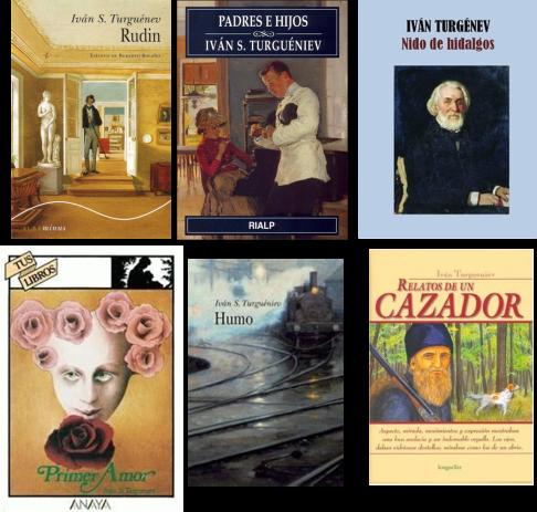Algunas de las novelas de Turguénev