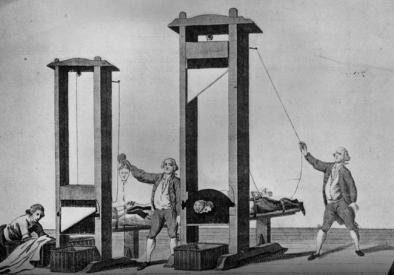 Ejecución en la guillotina