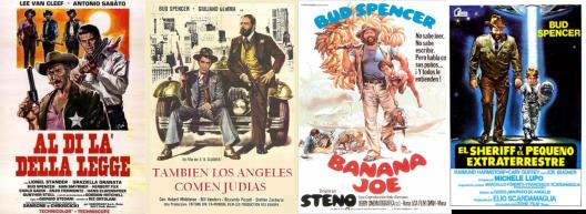 Afiches de otras pelis con la actuación de Bud Spencer