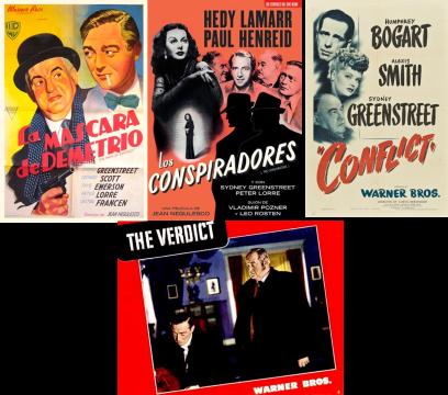 Afiches de otros filmes con Greenstreet, Lorre o ambos