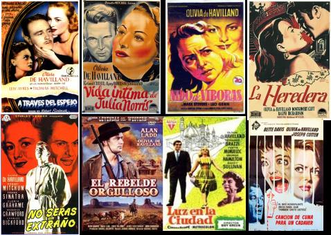 Afiches de películas protagonizadas por Olivia De Havilland