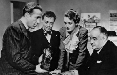 Bogart, Lorre, Mary Astor y Greenstreet en El Halcón Maltés 1941