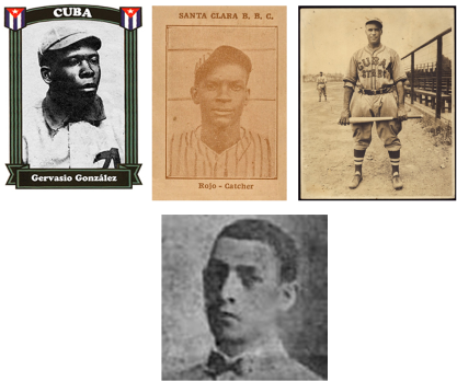Receptores destacados Gervasio González, Julio Rojo, José M. Fernández y Rafael Figarola