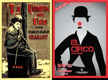 """Afiches de """"La quimera de oro (1925)"""" y """"El circo (1928)"""""""