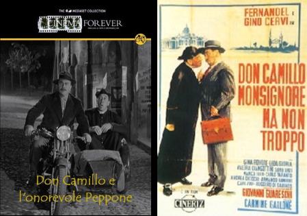 Afiches de las películas de Don Camilo dirigidas por Carmine Gallone