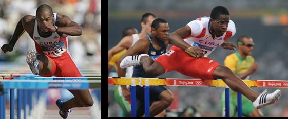 Campeones olímpicos cubanos en 100 m c vallas, Anier García y Dayron Robles