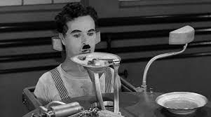 Chaplin en Tiempos Modernos