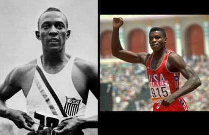 Jesse Owens y Carl Lewis