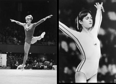 Las grandes gimnastas, Laritzza Latynina y Nadia Comaneci