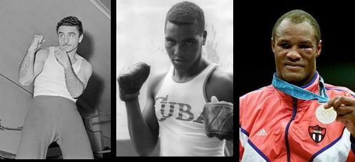 Tricampeones olímpicos de boxeo, Papp Laszlo, Teófilo Stevenson y Félix Savón