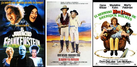 Afiches de películas protagonizadas magistralmente por Gene Wilder