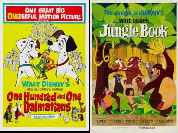 afiches-de-101-dalmatas-y-el-libro-de-la-selva