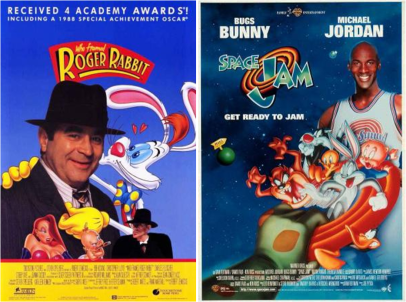 afiches-de-quien-engano-a-roger-rabbit-y-space-jam