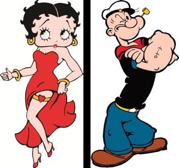 Betty Boop y Popeye