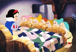 Escena de Blanca Nieves y siete enanitos