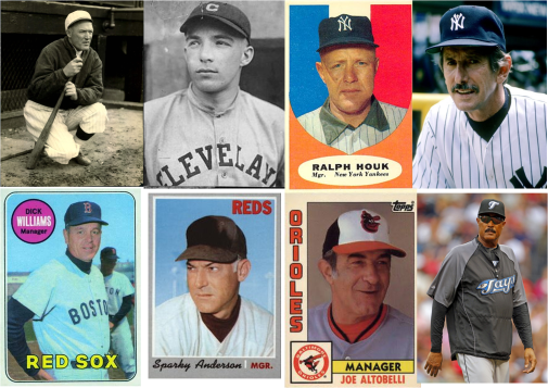 managers-vencedores-en-series-mundiales-bill-carrigan-billy-southworth-ralph-houk-billy-martin-dick-williams-sparky-anderson-joe-altobelli-cito-gaston