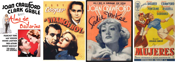 Afiches pelis de Joan Crawford