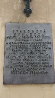 Tarja de Sinagoga en Praga