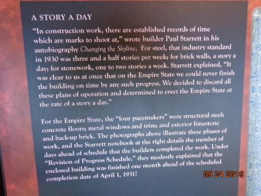 Tarja sobre el Empire State y su historia