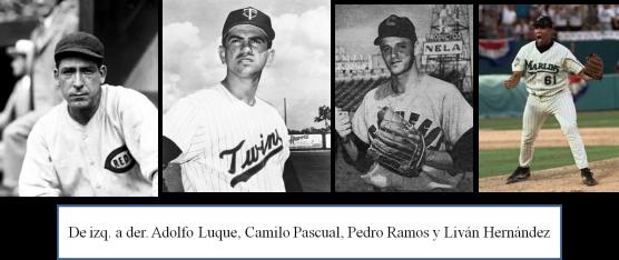 Buenos bateadores lanzadores cubanos