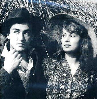 Vittorio Gassman con Silvana Mangano en Arroz Amargo