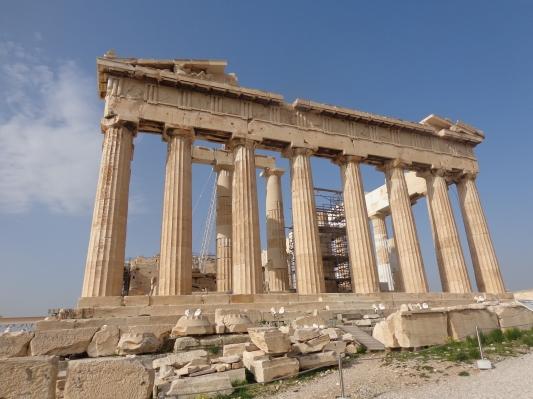 Fachada del Partenón, Acrópolis-Atenas