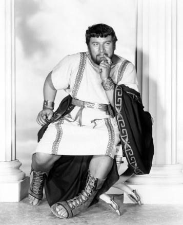 Peter Ustinov como Lentulus Batiatus en Espartaco (1960)