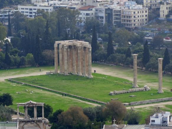 Templo Zeus Olímpico, Foto tomada desde Acropolis