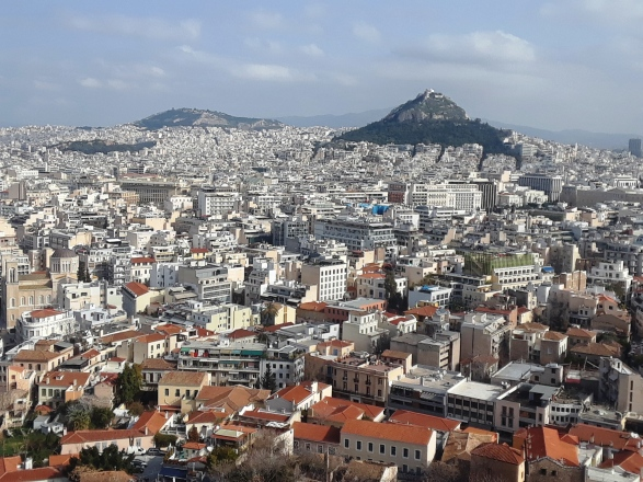 Vista Atenas y la colina Licabeto