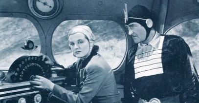 Wheeler Oakman con Constance Moore en Buck Rogers (1940)