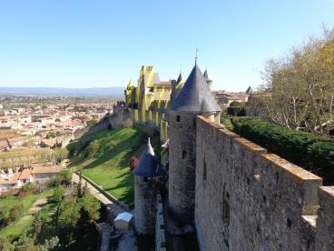 Vista externa de ciudadela en Carcassonne 2