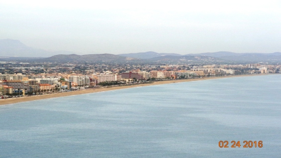 Vista de la playa Peñíscola