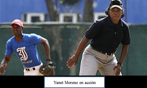 Yanet Moreno en acción