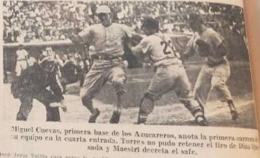 Miguel Cuevas anota la primera carrera en series nacionales