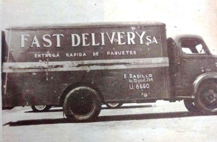 Camión utilizado el 13 de marzo