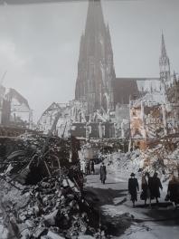Así quedó el centro de la ciudad al terminar la II Guerra Mundial