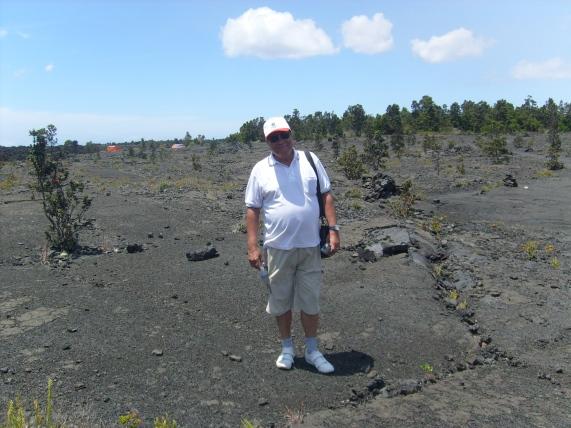 En zona volcánica de la Isla Grande